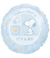 "18"" Peanuts Snoopy It's A Boy Balloon"