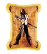 "34"" Pirates Carribean Captain Jack Sparrow Scroll"