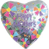 "30"" Happy Mother's Day Holographic Heart"