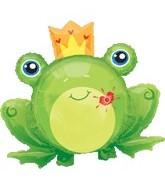 "35"" Flashing Kiss Frog Shape Balloon"