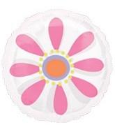 "18"" Pink Daisy MagiColor Clear Balloon"