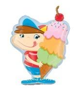 "31"" Ice Cream Boy Mylar Balloon"