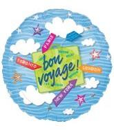 "18"" Bon Voyage Mylar Balloon"