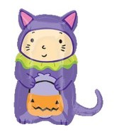 """23"""" Cat Trick or Treater Large Mylar Balloon"""