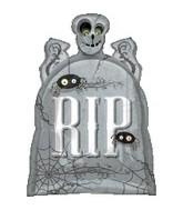 "29"" RIP Tombstone"