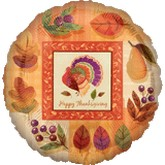 """18"""" Watercolor Turkey Balloon"""