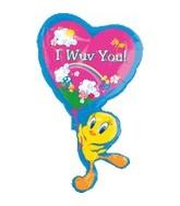 """35"""" Tweety Balloon I Wuv You Jumbo"""