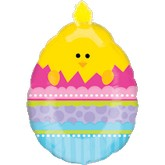 "27"" Doo Dad Chick In Egg Easter Balloon"