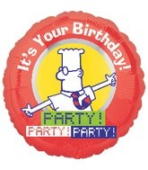 """18"""" Dilbert It's Your Birthday! Party!"""