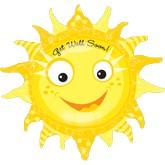 "29"" Get Well Soon Smiley Sun Balloon"