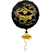 "30"" Happy Halloween Flashing Lights Balloon"