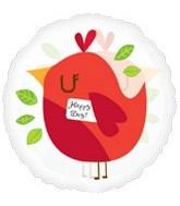 "18"" Happy Day Bird Clear Balloon"