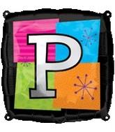 "18"" Foil Mylar Balloon Letters P"