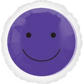 "18"" Magicolor Purple Smiley Face - outside clear"