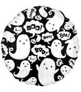 """18"""" Halloween Boo Ghosts Balloon"""