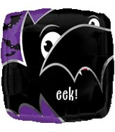 "18"" Eek Bat Mylar Halloween Balloon"