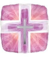 """18"""" Joyous Cross Pink"""