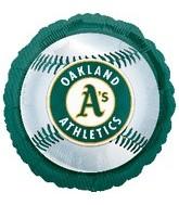 """18"""" MLB Oakland Athletics Baseball"""