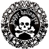 "18"" Ghostly Web Happy Halloween Skeleton"