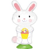 "15"" EZ Fill Stand Up Bunny Balloon Airfill Only"