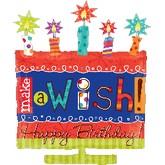 """26"""" Make A Wish Cake Balloon"""