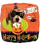 "18"" Happy Halloween Dog Treats Balloon"