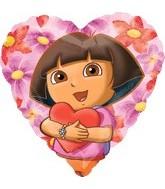 """18"""" Dora The Explorer Hearts Hug Balloon"""