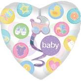 """32"""" SuperShape Insider Dangler New Baby Balloon"""