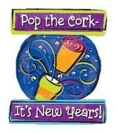 "35"" Pop The Cork New Year Balloon"
