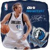 """18"""" NBA DIRK NOWITZKI Basketball Balloon"""