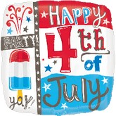 "18"" Happy 4th Popsicle Balloon"