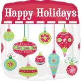 18'' Happy Holidays Ornaments