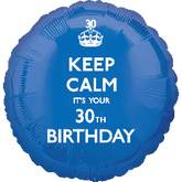 18'' Keep Calm 30th Birthday