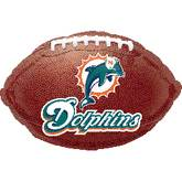 "18"" NFL Miami Dolphins Football"