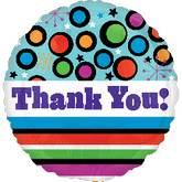 """21"""" Dots & Stripes Thank You"""