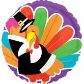 """21"""" Bright Turkey Balloon"""