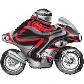 "24"" Large Sport Motorcycle Balloon"