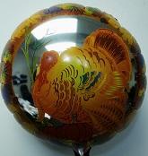 """18"""" Thanksgiving Turkey Mylar Balloon"""